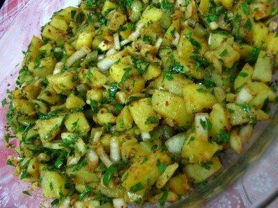 Patates Salatası, Patates Salatası Tarifi, Resimli Oktay Usta Patates Salatası Tarifi Yapılışı