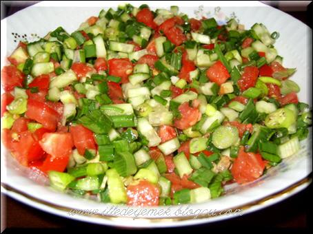 Çoban Salatası, Çoban Salatası Tarifi, Resimli Oktay Usta Çoban Salatası Tarifi Yapılışı