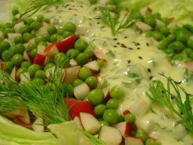 Bezelye Salatası, Bezelye Salatası Tarifi, Resimli Oktay Usta Bezelye Salatası Tarifi Yapılışı