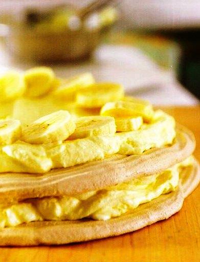 Muzlu Beze Pastası Tarifi,Muzlu Beze Pastası Tarifi, Resimli Oktay Usta Muzlu Beze Pastası Tarifi Yapılışı