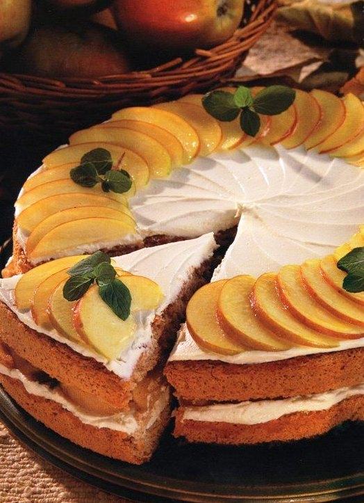 Tarçınlı Ve Elmalı Pasta Tarifi, Tarçınlı Ve Elmalı Pasta Tarifi, Resimli Oktay Usta Tarçınlı Ve Elmalı Pasta Tarifi Yapılışı