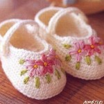 Çiçek Desenli Bebek Patik Modeli 150x150 Bebek Patik Modelleri