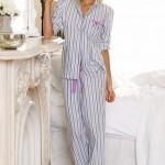 Çizgili Pijama Modeli