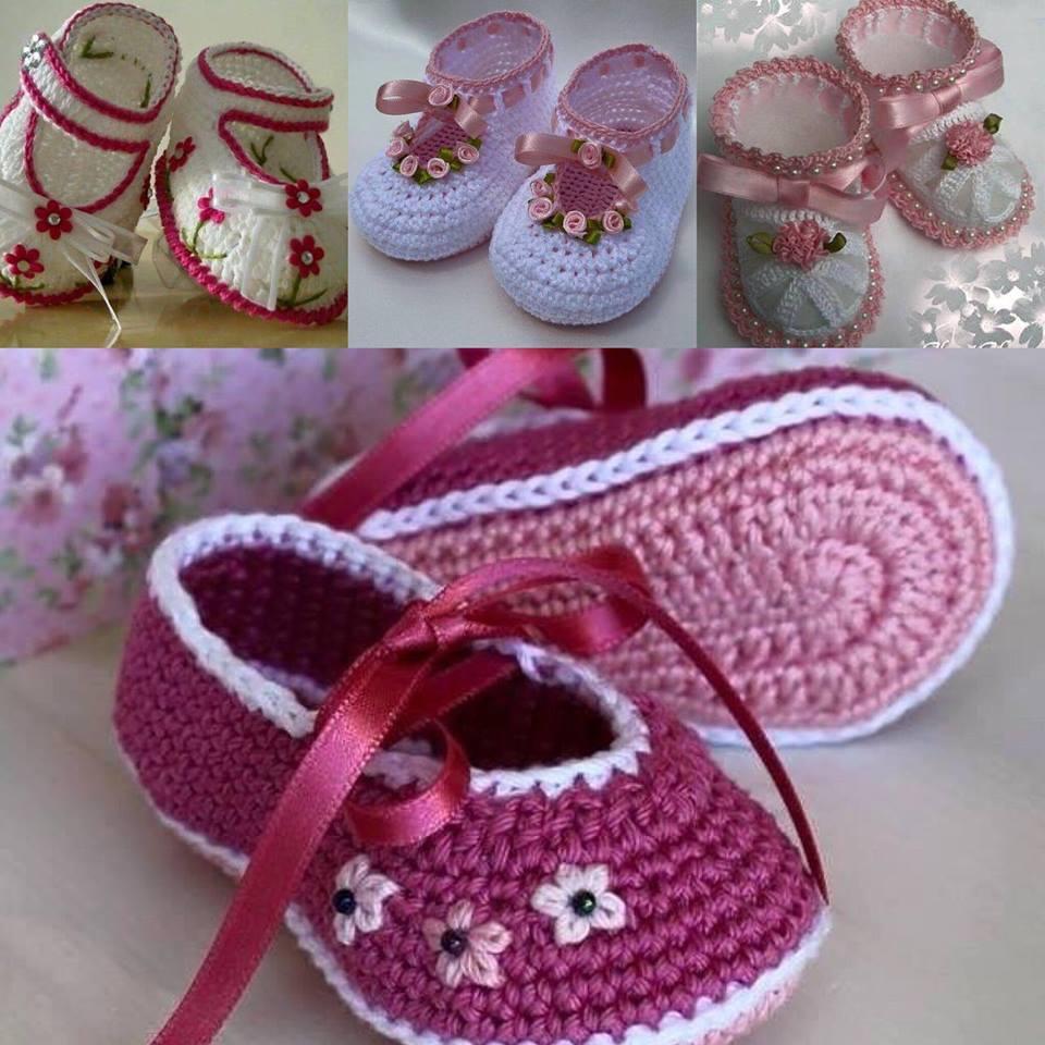 Çok Şirin Bebek Örgü Ayakkabı Modelleri