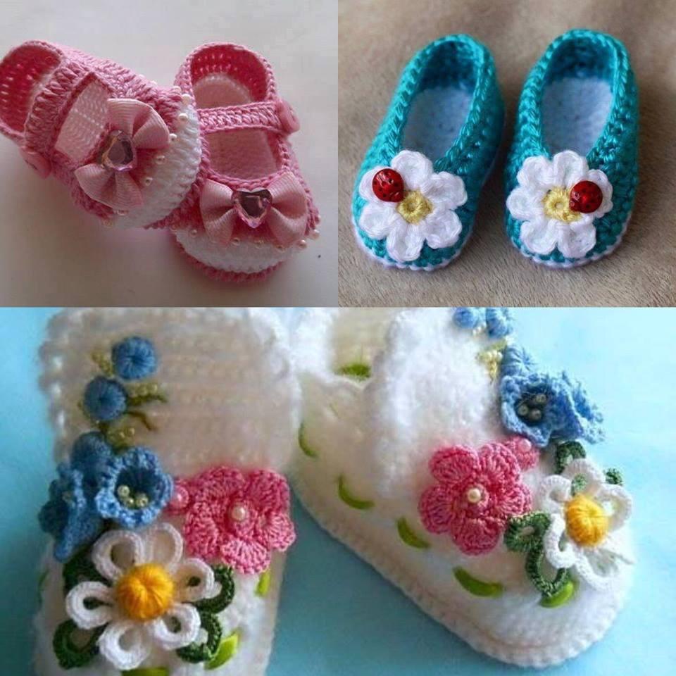 Şirin Bebek Örgü Ayakkabı Modelleri