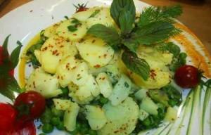 Baklalı Bahar Salatası, Baklalı Bahar Salatası Tarifi, Resimli Oktay Usta Baklalı Bahar Salatası Tarifi Yapılışı