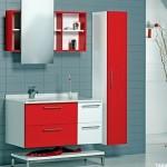 Kırmızı Banyo Dolap Modellerı