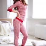 Kırmızı Bayan Pijama Takımı