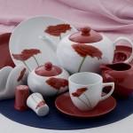 Karaca Kırmızı Çiçekli Kahvaltı Takımları Modelleri