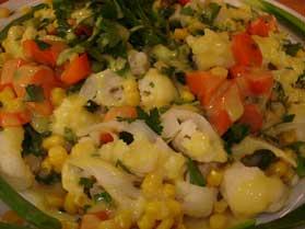 Karnabahar Salatası, Karnabahar Salatası Tarifi, Resimli Oktay Usta Karnabahar Salatası Tarifi Yapılışı
