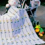 Papatyalı Bebek Battaniye Modelleri