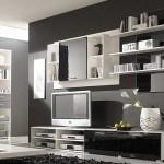 Siyah beyaz tv ünitesi modelleri