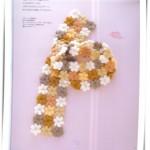 Tığ İşi Çiçek Motifli Şık Bayan Kaşkol Modeli