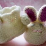 Tavşan Objeli Bebek Patiği 150x150 Bebek Patik Modelleri