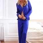 Tek Renk Bayan Pijama Modeli
