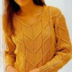 Triko Kışlık Bayan Kazak Modeli