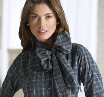 Yaka Fiyonklu Kışlık Bayan Gömlek