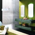 Yeşil banyo dolabi modeli