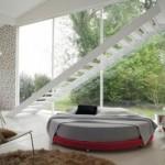 Yuvarlak yatak geniş model