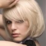 Küt Saçta Sarı Saç Modeli