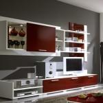kırmızı tv ünitesi modelleri