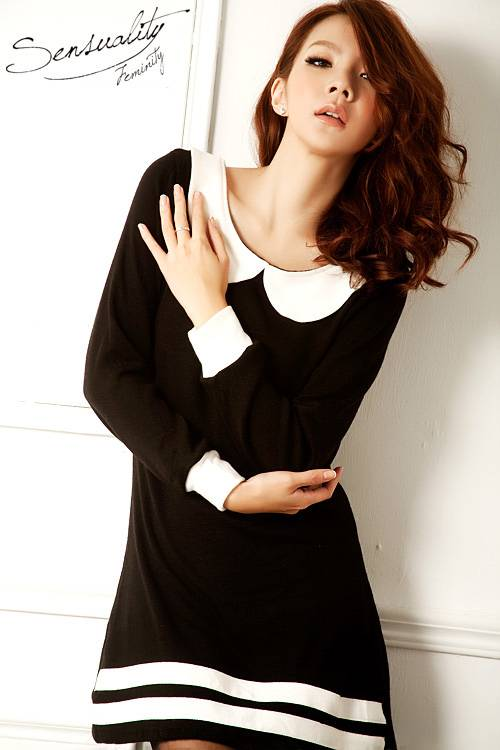 Черное Платье С Белым Воротником С Доставкой