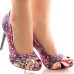 Desenlı Yazlık Topuklu Ayakkabı Modellerı