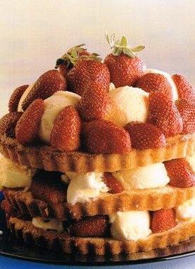 Dondurmalı Ve Çilekli Shortcake, Dondurmalı Ve Çilekli Shortcake Tarifi, Resimli Oktay Usta Dondurmalı Ve Çilekli Shortcake Tarifi Yapılışı