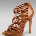 Kahverengı Yazlık Topuklu Ayakkabı