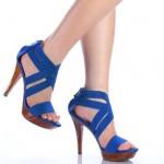Mavı Ince Topuklu Yazlık Ayakkabı Modellerı
