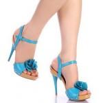Mavı Topuklu Yazlık Ayakkabı modelu