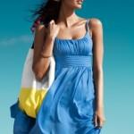 Mavı YAzlık Elbıse Modellerı