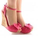 Pembe Yazlık Topuklu Ayakkabı Modelı