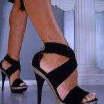 Sıyah ve Zarıf Yazlık Ayakkabı Modelı