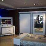 Zebrano Gri Cizgili Yatak Odasi 150x150 Zebrano Yatak Odası Takımları Modelleri