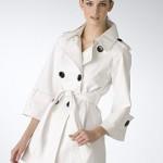 Beyaz Treckot Cesitleri 150x150 Bayan Trençkot Modelleri