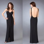 park bravo siyah abiye elbise modeli