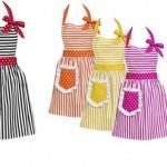 rengarek modern mutfak onluk modelleri 150x150 Mutfak Önlük Modelleri