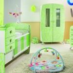 yeni trend yesil bebek odasi ornek modelleri