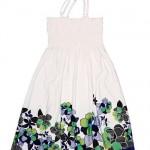 cicek desenli defacto elbise modeli