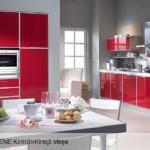 2012 kirmizi ankastre mutfak modelleri