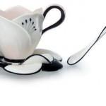 cicek seklinde kahve fincan