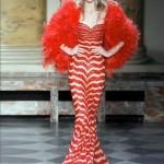 cizgili modern balik elbise ornek modelleri