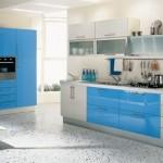mavi ankastre mutfak modeli