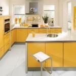 sari modern mutfak modelleri 2012