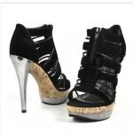 siyah 2012 yuksek topuklu ayakkabi modelleri cesitleri