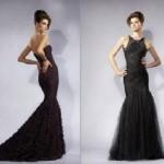 siyah cok guzel balik elbise modelleri