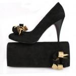 siyah yuksek topuklu modern ayakkabi tasarimlari