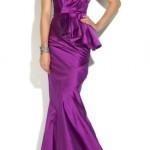 tek kol modern balik elbise modelleri