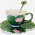 yaprak seklinde kahve fincan tasarimlari